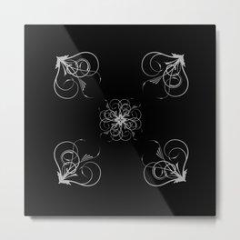 Silver Embossed Corners Metal Print