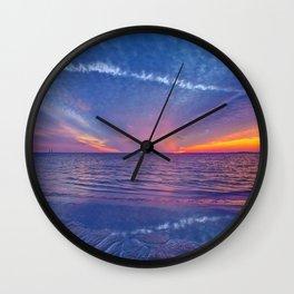 Fallstreak Sunset Wall Clock