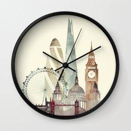 London skyline art Wall Clock