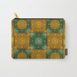 """""""Moroccan chess Celestial & Ocher Pattern"""" Carry-All Pouch"""