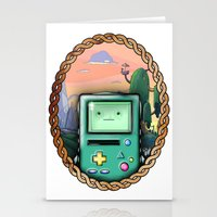 bmo Stationery Cards featuring BMO!! by SempiternalILLUSTRATIONS