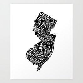 Typographic New Jersey Art Print