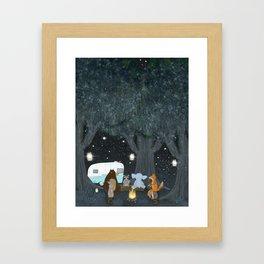 camping time Framed Art Print