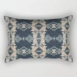 Indigo Triangles Rectangular Pillow