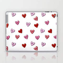 Hearts valentines day candy heart love sayings i love you pattern Laptop & iPad Skin