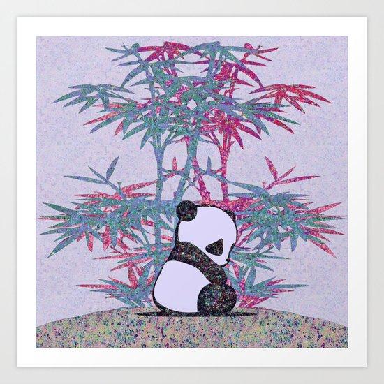 Sad Panda (paper cut) Art Print