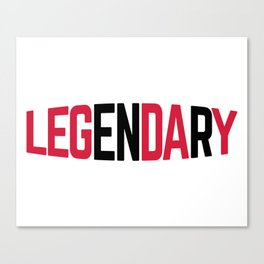 Leg Day Gym Quote Canvas Print