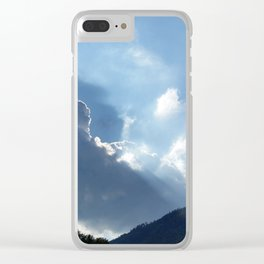 rays and clouds Clear iPhone Case