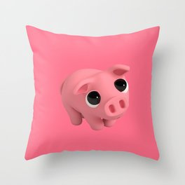 Rosa the Pig is Shy Throw Pillow