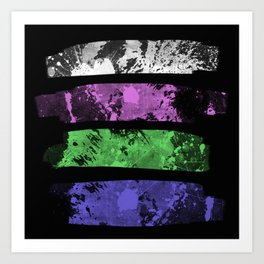 Rank Of Colour I - Abstract, textured, pastel themed artwork Art Print