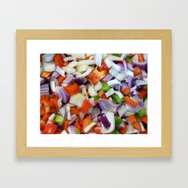 Onions and Bell Peppers Framed Art Print