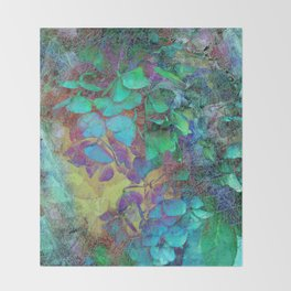 450 3 Abstract Hydrangea Throw Blanket