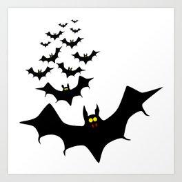 Isolated Bats Art Print