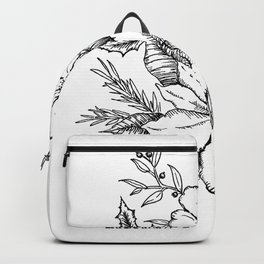 Poinsettia Florals & Winter Berries Backpack