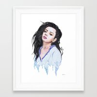 charli xcx Framed Art Prints featuring Charli XCX Slime by firemylions