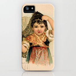 Spanish Girl Maud Humphrey iPhone Case