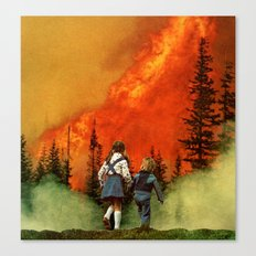 forest fire (2012) Canvas Print