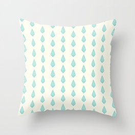 Happy Briolette Gems Throw Pillow