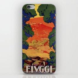 Vintage Italian travel Fiuggi springs iPhone Skin
