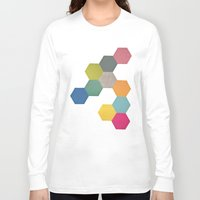 honeycomb Long Sleeve T-shirts featuring Honeycomb I by Cassia Beck