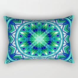 Sacred Places Green Rectangular Pillow