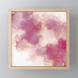 Mauve Dusk Abstract Cloud Design Framed Mini Art Print