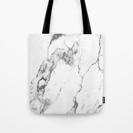 White Marble I Tote Bag