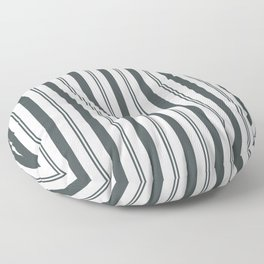 PPG Night Watch Pewter Green & White Wide & Narrow Vertical Lines Stripe Pattern Floor Pillow