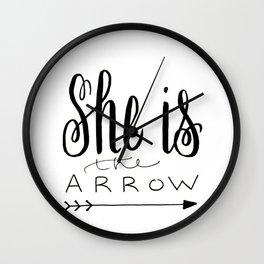 She is the Arrow Wall Clock