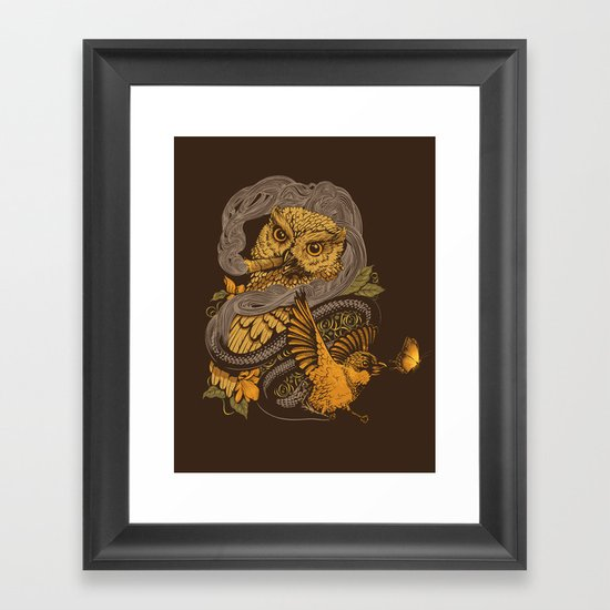 BIGMEAL Framed Art Print