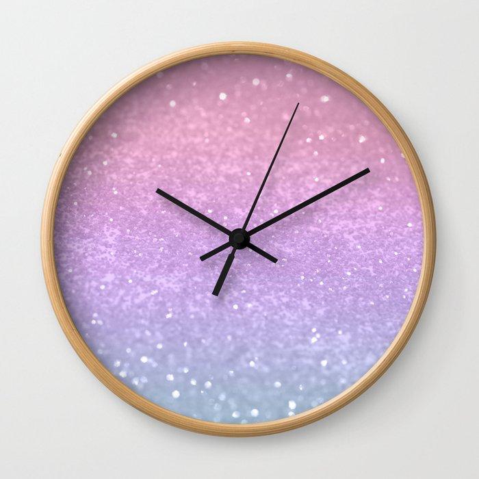 Unicorn Princess Glitter #1 (Photography) #pastel #decor #art #society6 Wall Clock