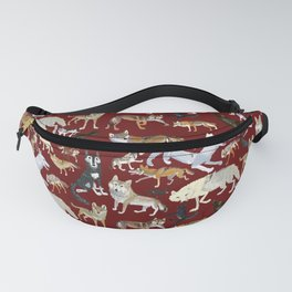 Wolves of the world Red Version Fanny Pack