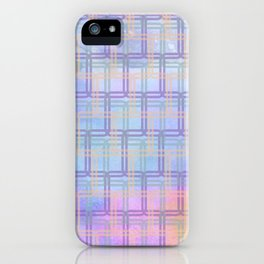 Rounded Squares in Pastel iPhone Case