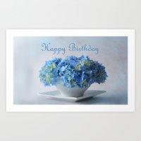 hydrangea Art Prints featuring Hydrangea by Fine Art by Rina