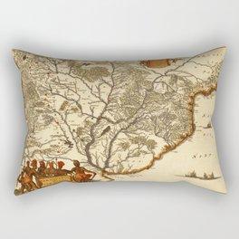 Map Of Paraguay 1671 Rectangular Pillow