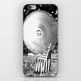 Whirling whirligig iPhone Skin