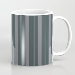 Magic Dust Muted Purple PPG13-24 Thick and Thin Vertical Stripes on Night Watch PPG1145-7 Coffee Mug