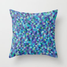 Cold Tessellation Throw Pillow