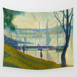 Bridge at Courbevoie Georges Seurat - 1886-1887 Impressionism Modern Pointillism Oil painting Wall Tapestry