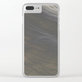 Snow Art 2 - Gold Clear iPhone Case