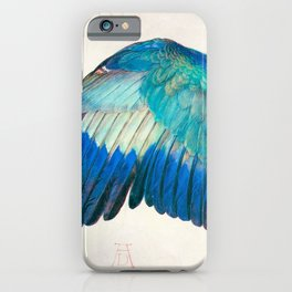 Wing of a Blue Roller by Albrecht Durer 1512 // Anatomy of a Birds Wing Wildlife Nature Decor iPhone Case