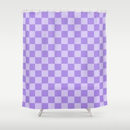 Lavender Check Shower Curtain