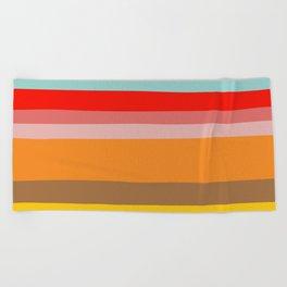 Color Stripes Beach Towel