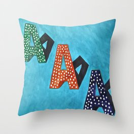 Aa Throw Pillow