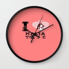 I Heart Malia Tate Wall Clock