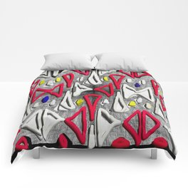 Painted Abstraction Comforters