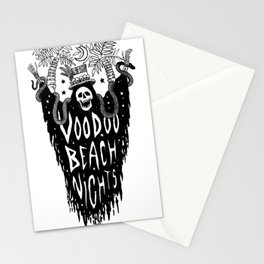 Voodoo Beach Nights Stationery Cards