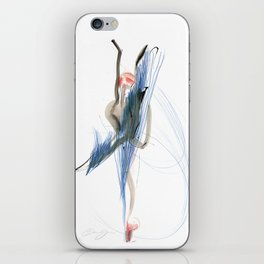 Expressive Dance Drawing iPhone Skin