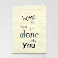 home sweet home Stationery Cards featuring Home by Brandy Coleman Ford