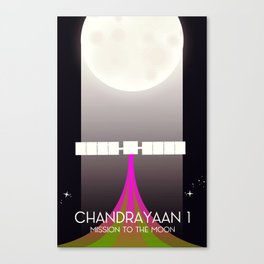chandrayaan -1 Space mission to the Moon space art. Canvas Print